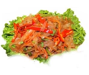 Салат из ашлянфу с мясом