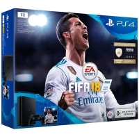 Игровая консоль Sony PlayStation 4 Slim 1TB + FIFA18 (CUH-2108B/FIFA18/PS+14)