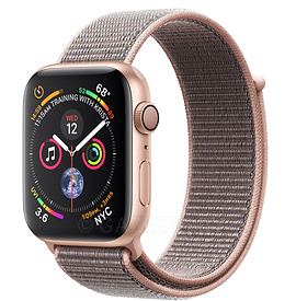 40mm Gold Aluminium Case with Pink Sand Sport Loop
