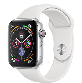 44mm Silver Aluminum Case with White Sport Band