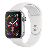 40mm Silver Aluminum Case with White Sport Band