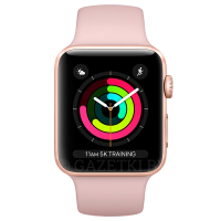 Cмарт часы Apple Watch Series 3 GPS 42mm Gold with Sport Band(MQL22)