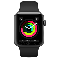 Cмарт часы Apple Watch Series 3 GPS 42mm Space Grey with Sport Band(MQL12)