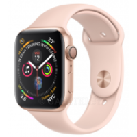 Смарт-часы Apple Watch Series 4 GPS 44mm Gold Aluminium Case with Pink Sand Sport Band Model A1978 MU6F2GK/A