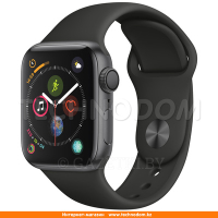 Apple Watch Series 4 GPS 44mm Space Grey Aluminium Case with Black Sport Band (MU6D2)