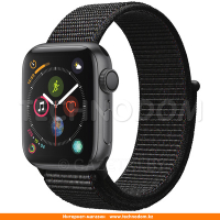 Apple Watch Series 4 GPS 44mm Space Grey Aluminium Case with Black Sport Loop (MU6E2)