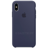 Чехол Apple для iPhone X Leather Case - MQT32ZM\A, синий
