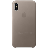 Чехол Apple для iPhone X Leather Case - MQT92ZM\A, серый