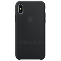 Чехол Apple для iPhone X Leather Case - MQTD2ZM/A, черный