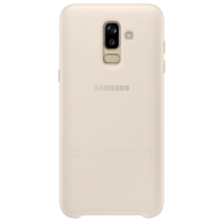 Чехол для Galaxy J8 2018 Dual Layer Cover EF-PJ810CFEGRU золотистый