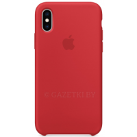 Чехол для iPhone XS Silicone Case MRWC2ZM/A красный