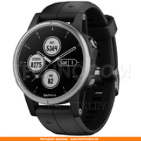 Garmin Smart Watch Fenix 5S Plus Silver with Black Band