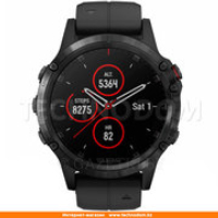 Garmin Smart Watch Fenix 5 Plus Sapphire Black with Black Band