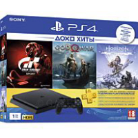 Игровая консоль Sony PlayStation 4 1TB + Horizon Zero Dawn + Gran Turismo Sport + God Of War