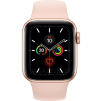 Apple Watch Series 5 GPS, 44mm Gold Aluminium Case with Pink Sand Sport