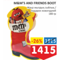 M&M'S AND FRIENDS BOOT