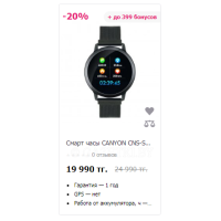 Смарт часы CANYON CNS-SW71BB Black
